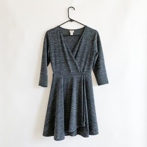 Mossimo Supply Co. Short Grey Sweater Wrap Dress